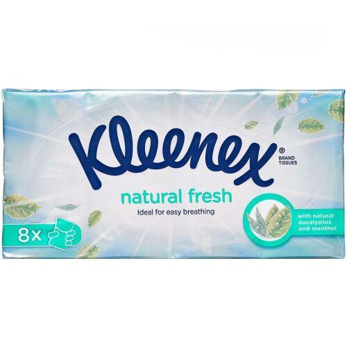 Køb Kleenex Natural Fresh Menthol Lommepakning 8 x 9 stk. online hos apotekeren.dk