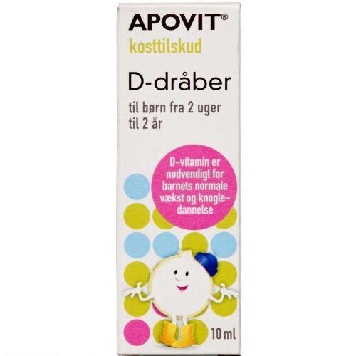 Køb Apovit D-vitamin dråber 10 ml online hos apotekeren.dk