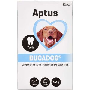 Køb Aptus Bucadog tyggelapper Large online hos apotekeren.dk