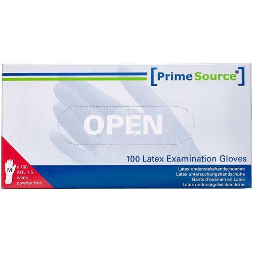 Køb Primesource Latex handske pudderfri - medium 100 stk. online hos apotekeren.dk
