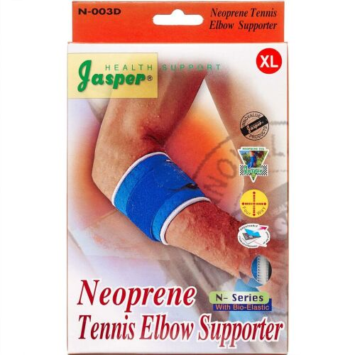 Køb Jasper Neopren tennisalbuebandage x-large 1 stk. online hos apotekeren.dk