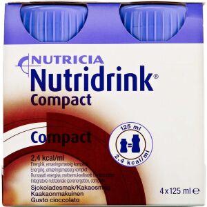 Køb Nutridrink Compact Chokolade 4 x 125 ml online hos apotekeren.dk