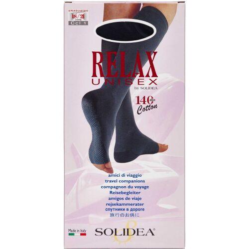 Køb Solidea knæ Relax unisex 140 åben tå sort - medium 1 stk. online hos apotekeren.dk