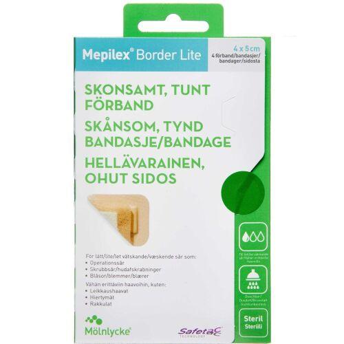 Køb Mepilex Border Lite 4x5 cm 4 stk. online hos apotekeren.dk