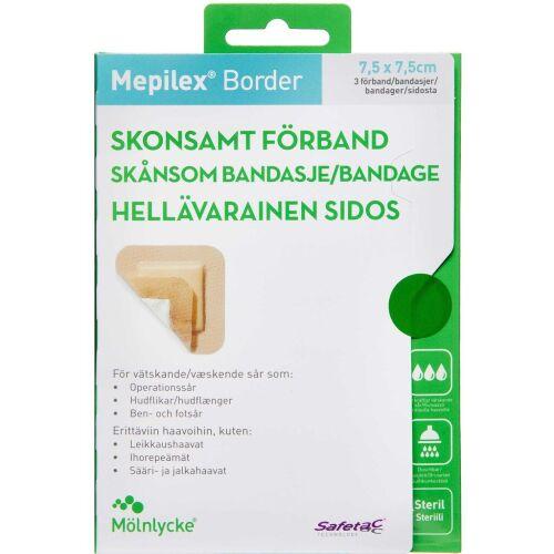 Køb Mepilex Border 7,5x7,5 cm 3 stk. online hos apotekeren.dk