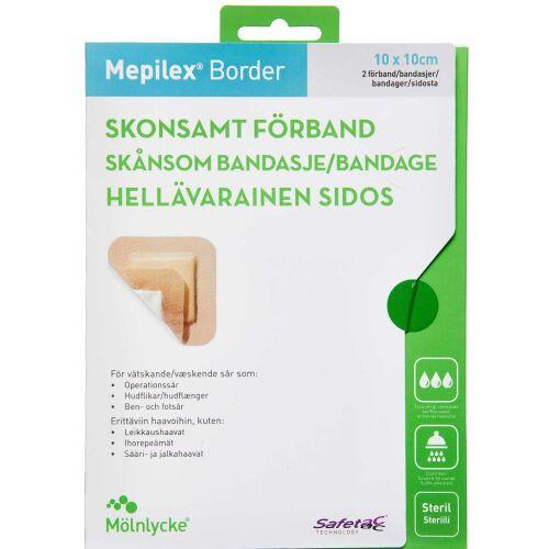 Køb Mepilex Border 10x10 cm 2 stk. online hos apotekeren.dk