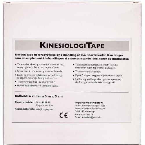 Køb Jasper Kinesiologi Tape assorterede farver 5 cm x 5 m 6 stk. online hos apotekeren.dk