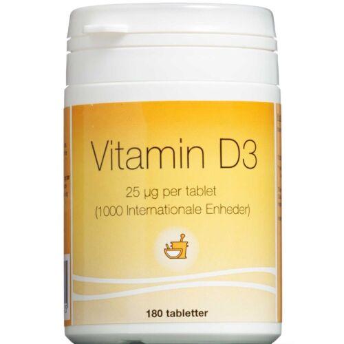 Køb Vitamin D3 tabletter 25 mikg 180 stk. online hos apotekeren.dk