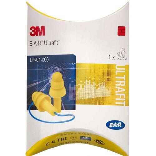 Køb E-A-R UltraFit ørepropper med snor 1 par online hos apotekeren.dk