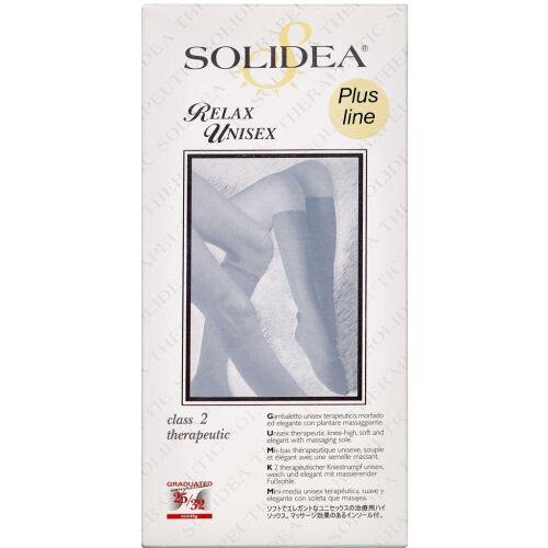 Køb Solidea Knæstrømpe Relax Unisex Plusline - sort large 1 stk. online hos apotekeren.dk