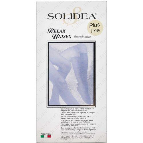 Køb Solidea Knæstrømpe Relax Unisex Plusline - sort x-large 1 stk. online hos apotekeren.dk