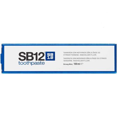 Køb SB12 Tandpasta Strong Mint 100 ml online hos apotekeren.dk