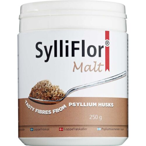 Køb SylliFlor Loppefrøskaller Malt 250 g online hos apotekeren.dk