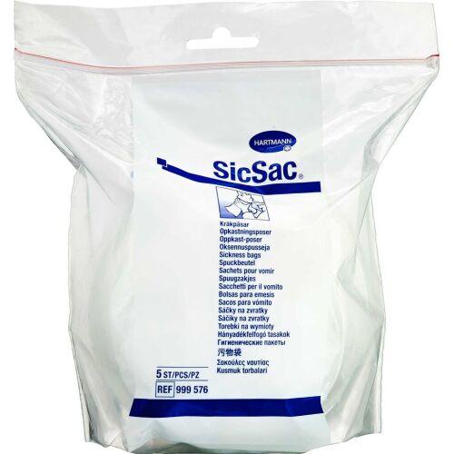 Køb SicSac opkastningspose 5 stk. online hos apotekeren.dk