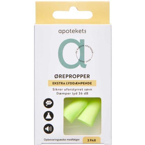 Køb Apotekets ørepropper 3 par online hos apotekeren.dk
