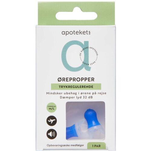 Køb Apotekets ørepropper til rejse 1 par online hos apotekeren.dk