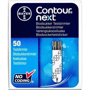 Køb Contour next Blodsukker Teststrimler 50 stk. online hos apotekeren.dk