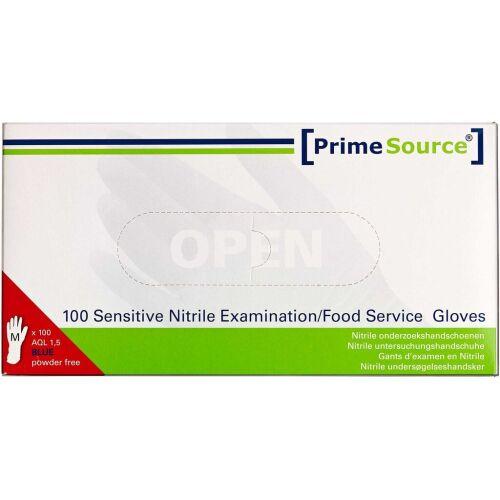Køb Primesource nitril handske pudderfri blå - medium 100 stk. online hos apotekeren.dk