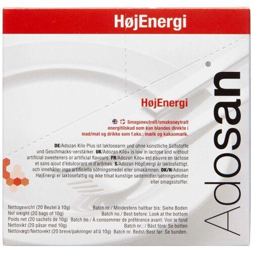 Køb Adosan Pulver HøjEnergi 20 x 10 g online hos apotekeren.dk