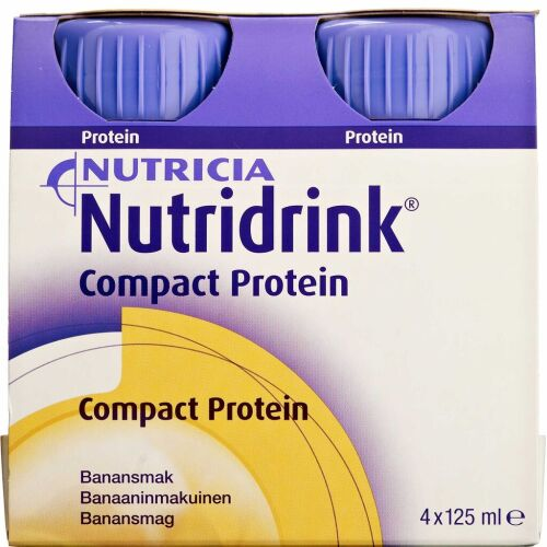 Køb Nutridrink Compact Protein Banan 4 x 125 ml online hos apotekeren.dk