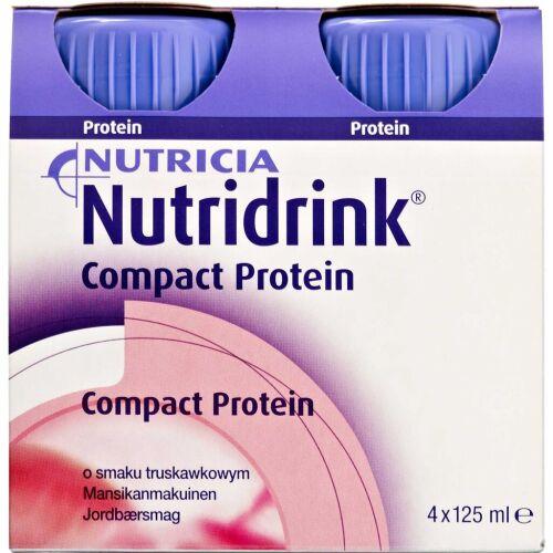 Køb Nutridrink Compact Protein Jordbær 4 x 125 ml online hos apotekeren.dk