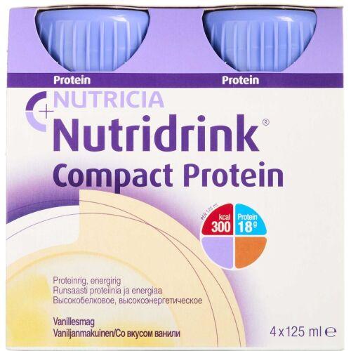 Køb Nutridrink Compact Protein Vanille 4 x 125 ml online hos apotekeren.dk