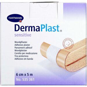 Køb DermaPlast Sensitive plaster 6 cm x 5 m 1 stk. online hos apotekeren.dk