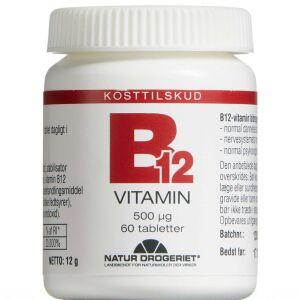 Køb B12 Vitamin tablet 500 mikg 60 stk. online hos apotekeren.dk
