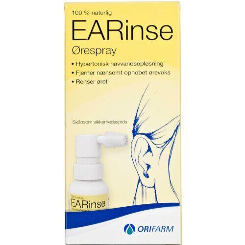 Køb Orifarm EARinse Ørespray 30 ml online hos apotekeren.dk