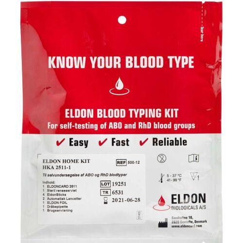 Køb Eldon Blodtypetest 2511 blodtypetest og antistoftest 1 stk.  online hos apotekeren.dk