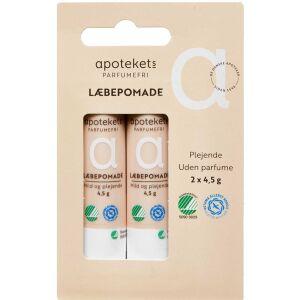 Køb Apotekets Læbepomade Svanemærket u/ parfume 2 stk. á 4,5 g online hos apotekeren.dk