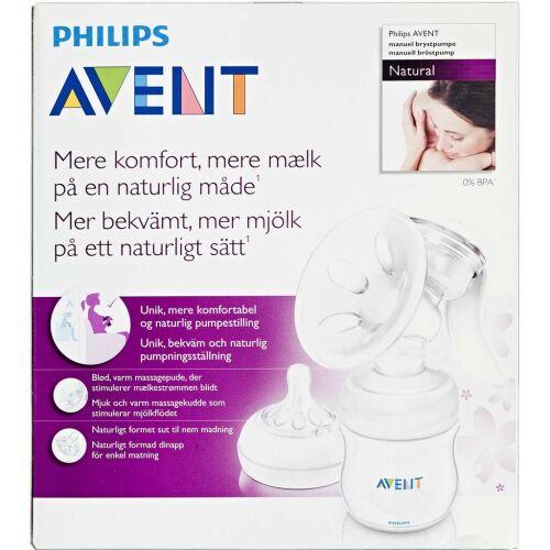 Køb Philips Avent Brystpumpe NATURAL komfort m/125 ml flaske 1 stk. online hos apotekeren.dk