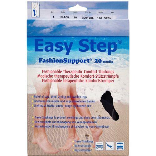 Køb Easy Step knæ åben tå sort L 1 par online hos apotekeren.dk