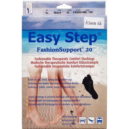 Køb Easy Step knæ åben tå sort XL 1 par online hos apotekeren.dk
