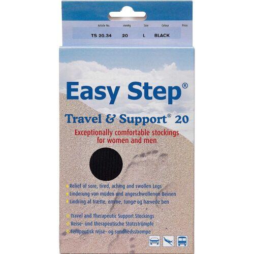Køb Easy Step knæ travel mix sort 42-43 1 par online hos apotekeren.dk