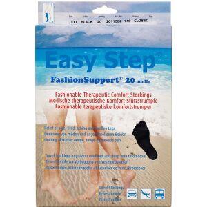 Køb Easy Step knæ lukket tå sort XXL 1 par online hos apotekeren.dk