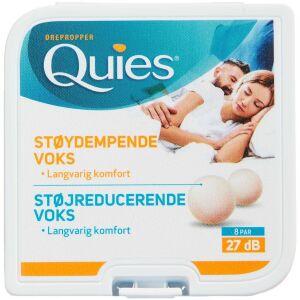 Køb Quies ørepropper af naturlig voks 8 par online hos apotekeren.dk