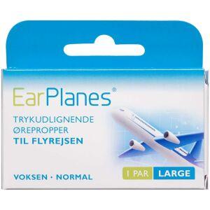 Køb EarPlanes Large - trykudlignende ørepropper 1 par online hos apotekeren.dk