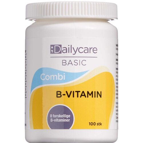 Køb Dailycare B-vitamin Combi 100 stk. online hos apotekeren.dk