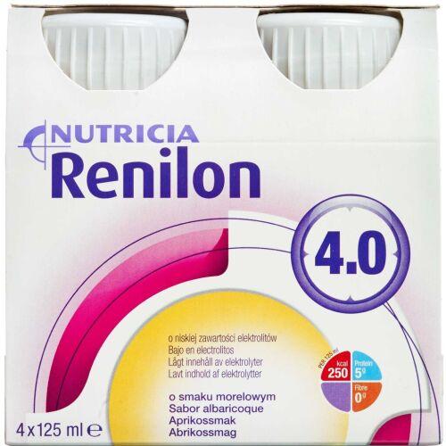 Køb Renilon 4,0 Abrikos 4 x 125 ml online hos apotekeren.dk