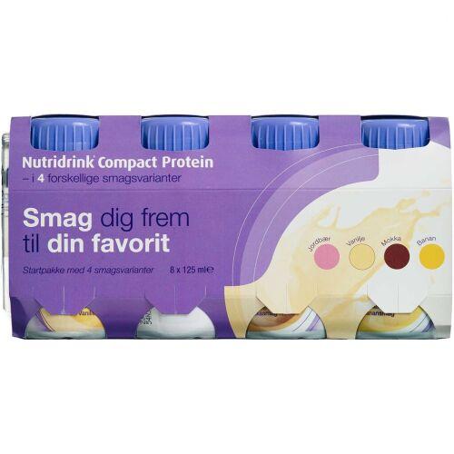 Køb Nutridrink Compact Protein startpakke 8 x 125 ml online hos apotekeren.dk