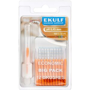 Køb EKULF ph mellemrumsbørste 0,45 mm 12 stk. online hos apotekeren.dk