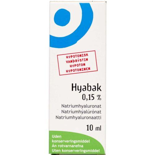 Køb Hyabak Tåresubstitut 0,15 % 10 ml online hos apotekeren.dk