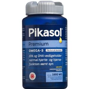 Køb Pikasol Premium Omega 3 1000 mg Kapsler 120 stk. online hos apotekeren.dk