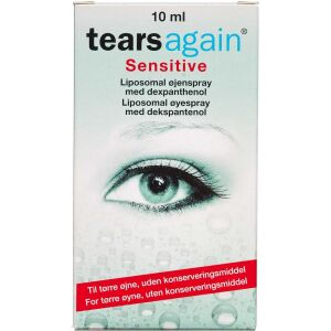 Køb Tearsagain Sensitiv øjenspray 10 ml online hos apotekeren.dk