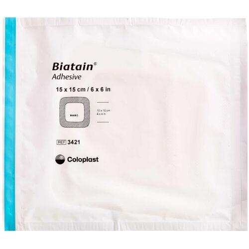Køb Biatain Bandage med klæb 15X15cm 1 stk. online hos apotekeren.dk