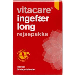 Køb VitaCare Ingefær Long tabletter 50 stk. online hos apotekeren.dk