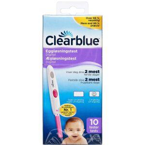 Køb Clearblue Digital Ægløsningstest 10 stk. online hos apotekeren.dk