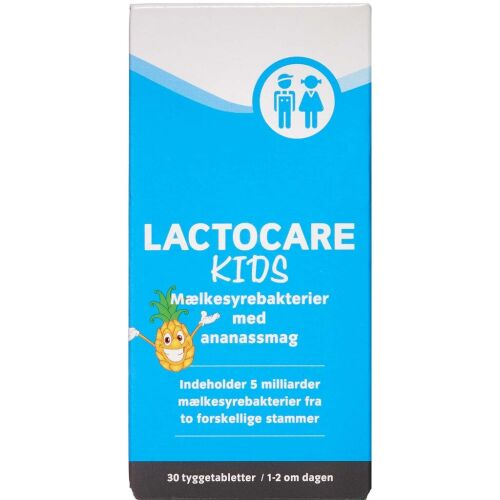 Køb Lactocare Kids Tyggetabetter 30 stk. online hos apotekeren.dk