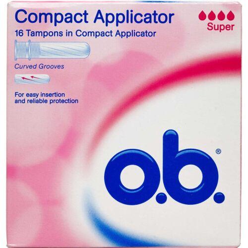 Køb o.b. Super Tampon Applicator 16 stk. online hos apotekeren.dk